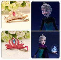 Wholesale frozen elsa hair clips hair crown