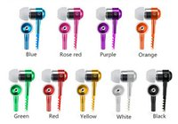 Wholesale Metal Zipper Earphone Headphone mm In Ear Earbuds Handsfree With Mic Stereo Headset For iPhone samsung s7 mobile phone with retail box