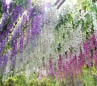 christmas garland - Low Price Silk Simulation Artificial Wister wisteria Flower Garlands Wedding Photography Christmas Home Decorations cm cm
