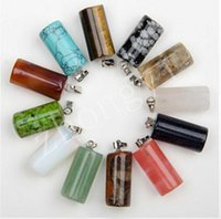 Wholesale Ms new gray stone cylindrical pendants natural stone manufacturers