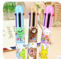 Wholesale New kawaii Bear Rabbit Frog color ball pen Korean Style
