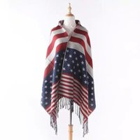 Wholesale Europe Women Clothing Girl Outwear Tops Fashion Tassel Printed Scarf Lady Knitted Cloak Cape cm