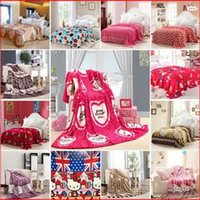Wholesale Home textile The new adults and children super soft blanket Farley velvet coral fleece blanket air conditioning