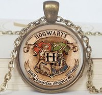 Wholesale Hogwarts Crest Harry Potter Necklace with Chain