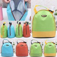 soft drink - Hot Sales Outdoor Lunch Bag Box Cool Thermal Handbag Food Drinks Holder Stuff Sacks Packs Canvas Size CM BX156