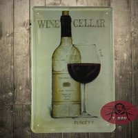 antique wine cellar - WINE CELLAR poster Art wall vintage Kitchen wall poster tin plaque gift