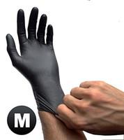 latex gloves free powder - USA Warehouse Black Latex Powder Free Disposable Tattoos Piercing Industrial Gloves Size Medium gloves Box pairs