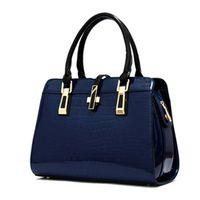 art handbags - Fashion Luxury Top Crocodile Grain Patent Leather Women Handbag Ladies Hight Art Women Shoulder Bag Messenger Bag