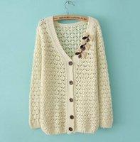 bargain knitting wool - 2015 autumn leisure fashion ladies cardigan sweater hollow out sweater cardigan ms coat super bargain price
