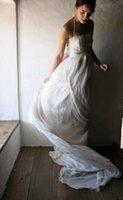 Cheap Boho Wedding Dresses, Wedding Gown, Hippie Wedding Dress, Bridal Gown, Silk Chiffon Alternative Wedding Dress, Halter long Train