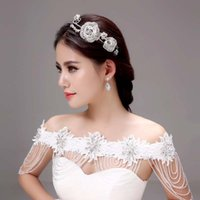 Wholesale New Wedding Bridal Crowns Tiaras Accessories Shining Roses Flower Handbands Girls Gorgeous Flowers Hair Tiaras