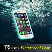 "Cheap 100% Sealed Waterproof case Water Resistant Full Body Screen Protect Soft TPU Gel Front & Back Case For iPhone 6 6s  iphone6 4.7"" 5s"