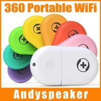 Wholesale 360 Portable WiFi II Colorful USB MTK Mini Wireless LAN with Retail Package