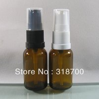 amber glass spray bottles - 15ml amber glass cream bottle pump bottle cosmetic container Spray Bottle for Essential Oil or Eye Cream