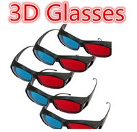 Wholesale Best selling Red Blue Color Universal Type D Glasses TV Movie Dimensional Anaglyph Video Frame D Vision Glasses DVD Game Glass