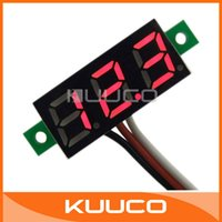 access meter - 100 Ultra small quot Digital Voltmeter Panel DC V Power Monitor Red LED Voltage Meter Three wire Access