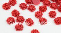 aqua cabochons - 200pcs mm Flatback multicolor Resin rose flower Cabochons DIY scrapbook hair bow flower centers cell phone mix color