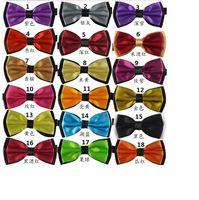 Wholesale whole sale colors bowties men s ties women bow tie pure color bowtie men wedding business hotel waiter bow tie hly001