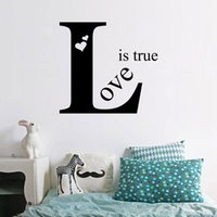art inspirations - quot Love is True quot DIY Lettering Words art Wall Sticker Mural Home Decor Inspiration Stickers HDE_0IZ