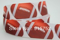 sports ribbon - New sports ball printed grosgrain ribbon hairbow diy party decoration OEM mm H198