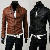 Cheap Men Motorcycle Jacket Best Light Brown Coat