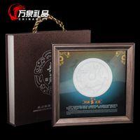 animal meetings - Cheap Lantian Vatan frame decorative painting crafts business gifts meeting four animal ornaments jade