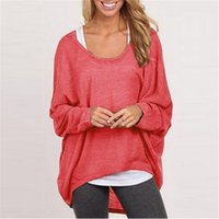 Wholesale 9 Colors Lady Batwing Dolman Sleeves Casual Loose Knitted Sweater Pullover Plus Size Gray Spring