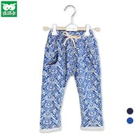 elastic cord - Fashion Little Baby Pants Spandex Cotton Material Casual Trousers with Elastic Cord Children Spring Pants Hot Sale C035