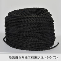 electrical wiring - 2 Edison Vintage Black knitted cloth electrical wire copper conductor retro electrical wire pendant light lamps line m