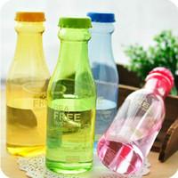 plastic water bottle sports - Popular ML Portable Leak Proof Soda Bottle Sports Kettle Plastic Water Bottle Cute Travel Kettle Multi Color dandys