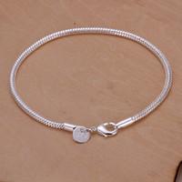 best fishing brand - Hot sale best gift silver M snake bone bracelet DFMCH187 Brand new fashion sterling silver Chain link bracelets high grade