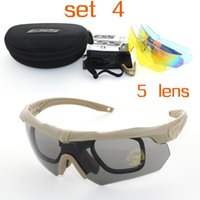 Wholesale 3 Pairs Lens Soldiers Tactics Polarized Sunglasses ESS Crossbow Outdoor Sports Mens Army Buller proof Goggles Sun Glasses Shooting Eyewear