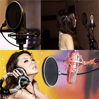 filter pop - Hot sales Double Layer Studio Speaking Recording Microphone Mic Wind Screen Mask Gooseneck Shield Pop Filter order lt no track