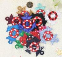 clothes dropship - 5 x cm Mix colour Anchors iron on patch biker vest patch Badge Embroidered Kids Clothing dropship