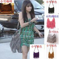 Wholesale New Fashion Fringe Tassel Women Handbags Polyester Solid Messenger Bag Lady Cross Body Shoulder Bag styles C586