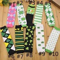 baby argyle socks - 2016 Baby Toddler Infant Girls Boys Lucy Clover Leg Warmers Argyle Striped High Knee Warmer Socks Leggings Children Kids Arm Warmers ZJ L07