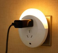 Wholesale LED intelligent light control sensor light plug socket lamp bedroom bedside lamp on feeding night light switch