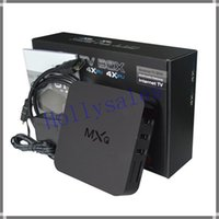 Wholesale MXQ TV BOX Amlogic S805 Quad Core Android GB GB Media Player KODI15 Rooted Online Update MXQ Android TV Box