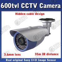 Wholesale 600tvl CCTV Outdoor Camera Real Original SONY CCD mm lens waterproof Camera IR LED Night Vision m Infrared Camera
