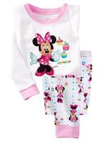 no brand baby pyjama - Kids Pyjamas Boy Girl Cotton Long sleeve Pyjamas sets Cartoon Baby Pajamas sleepwear children pajamas Hot Sale