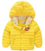 Wholesale winter new boy girl Kids white duck down jacket Down Coat Children s warm thick velvet hooded jacket