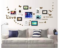 PVC beautiful love photos - 50x22 CM PVC D Butterfly Wall Stickers With special photo wall Home Decoration Beautiful Wedding Photography Love Decal