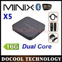 Wholesale 20PCS MINIX NEO X5 RK3066 Dual Core Cortex A9 Smart TV Receiver GB GB Wireless Bluetooth USB RJ45 HDM MINIX NEO X5