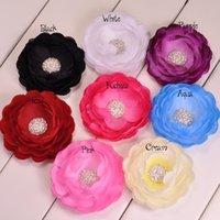 Hair Clips silk flower hair clip - Trial order Full Of Crystal Gems Gorgeous Silk Ranunculus Flowers Hair Clip