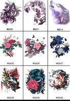 tattoo flash - 550PCS Unisex Large Flower Tattoo Sticker Temporary Tattoos Sticker Flash Tattoo Water Sticker Waterproof Tattoo Sticker Body Tattoo