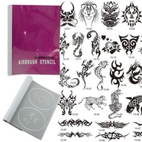 art booklet - OPHIR Patterns Airbrush Temporary Tattoo Stencils Set for Airbrushing Art Booklet Body Tatto Art _STE13