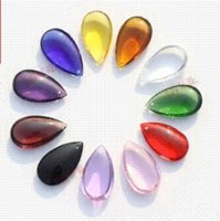 Wholesale 100pcs mm mixed color crystal prism DROPLETS OVAL BAUBLE lighting pendant part pendant light led pendant lighting discount