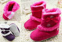 Winter Snow Boots Mid-Calf 15%off!High quality printing baby boots. Ribbon bow waist soft-soled casual boots. Velcro side warm toddler boots .baby wear 8pair 16pcs CL