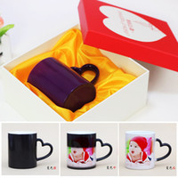 Wholesale Frosted Mug color discoloration ceramic cup Mark custom printed photo print your own custom design photo