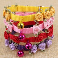 Wholesale Knit Bowknot Adjustable Leather Dog Puppy Pet Collars Necklace Collars For Dogs Cat collar perro Size XS S M